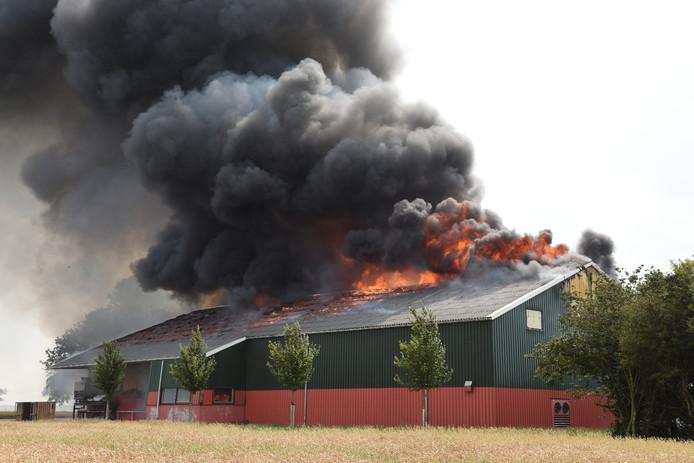 Brand in de boerderij van voormalig Boer Zoekt Vrouw-deelnemer Janko Elema in het Groningse Zijldijk.