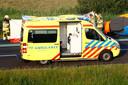 Een dodelijk ongeluk op de N50 bij Kampen in juni van het vorig jaar.