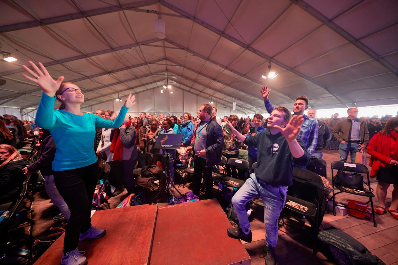 Pinksterconferentie Opwekking in 2019. Dit jaar vindt de conferentie net als vorig jaar op internet plaats.