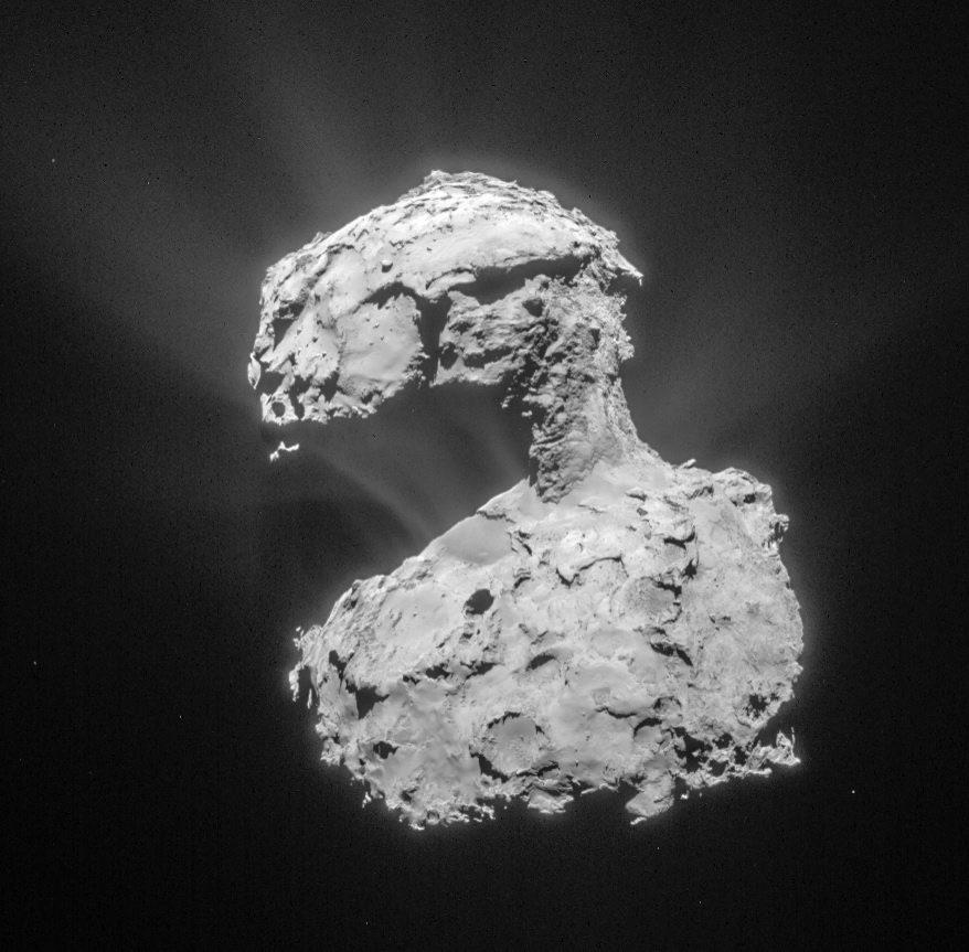 Foto van Rosetta van de komeet 67P/Tsjoerjoemov-Gerasimenko.