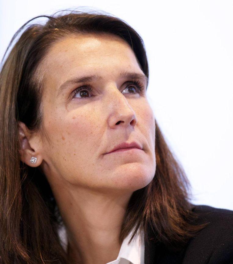 Sophie Wilès (MR), minister van Begroting. Beeld rv
