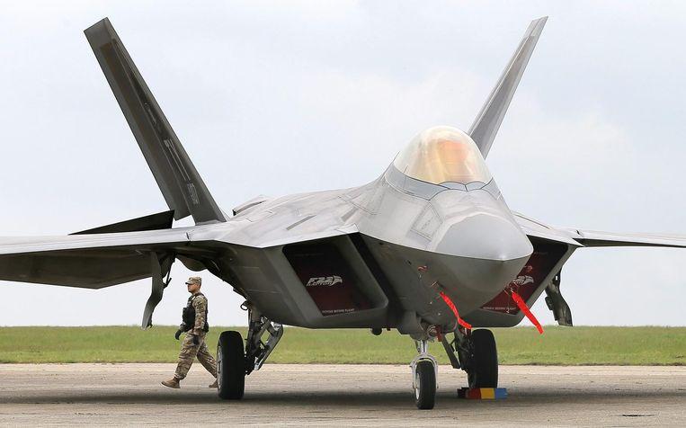 De F-22 Raptor. Beeld afp