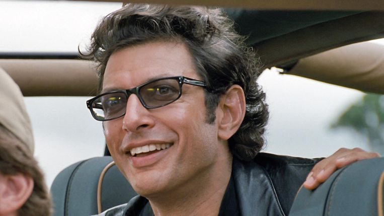 Jeff Goldblum als Ian Malcolm in 'Jurassic Park' (1993). Beeld RV