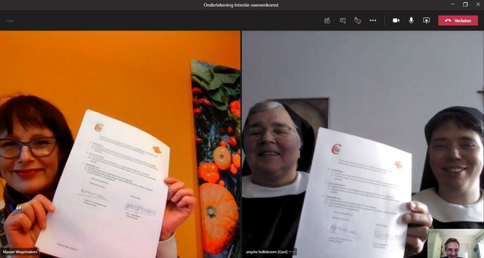 Dalco en de zusters clarissen in Megen tekenden -digitaal- een gezamenlijke overeenkomst.