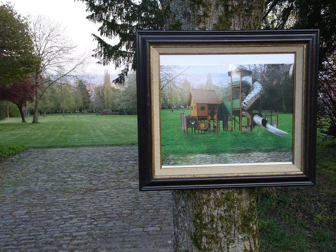Een speeltuin in het Malanderpark.