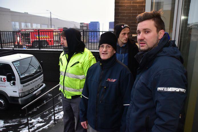 Angelino Dhondt (rechts) uit Desselgem is zwaar onder de indruk van wat hij heeft meegemaakt.