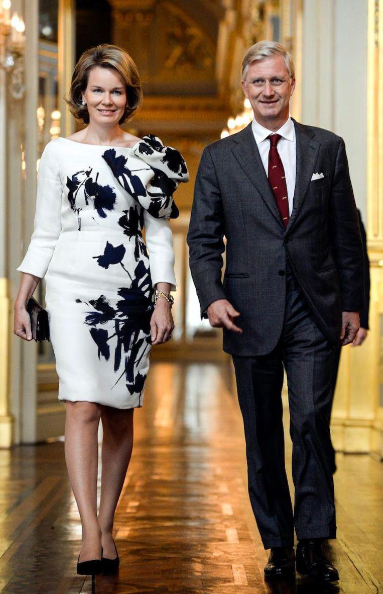 Het Belgische koningspaar Beeld AFP