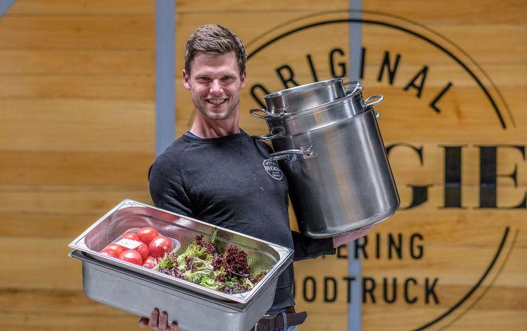 Timo Berth van het West-Vlaamse cateringbedrijf Beggie. Beeld Henk Deleu