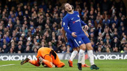 Coach, fans en vermoeide Hazard