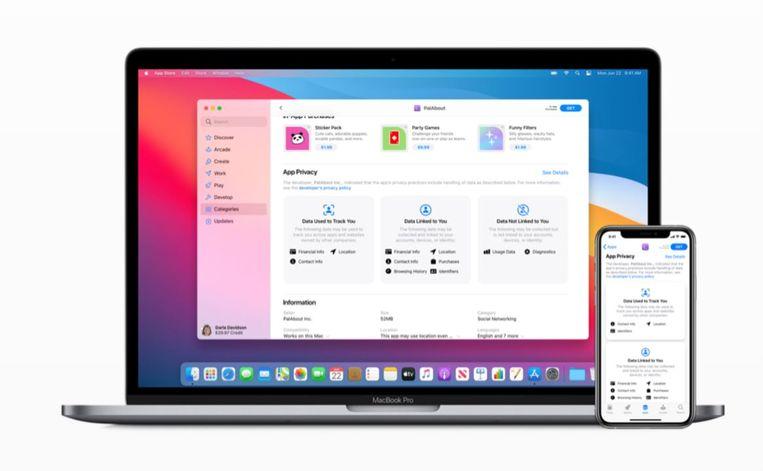 Apple verlangt voortaan privacy-informatie van app-aanbieders Beeld Apple