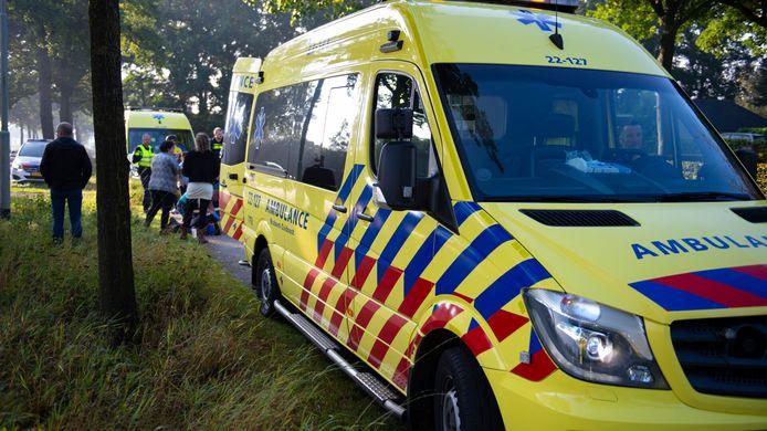 Wielrenners gewond in Deurne.