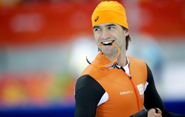 De Nederlandse schaatser Mark Tuitert tijdens de Winterspelen van Sotsji. Hij spande de zaak aan bij de EU. Beeld AP