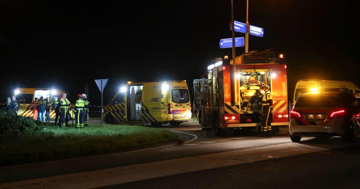 Dode en twee gewonden bij eenzijdig ongeval Etten-Leur.