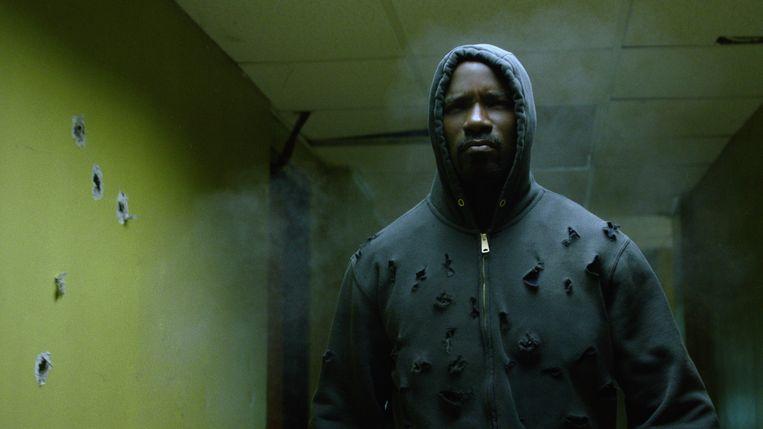 Marvel's Luke Cage, een van de verfilmingen van de Marvel-stripreeks door Netflix.   Beeld RV Netflix