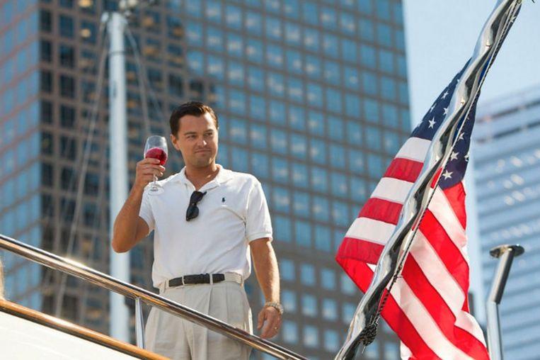 Leonardo DiCaprio als Jordan Belfort in The Wolf of Wall Street.  Beeld Alamy Stock Photo