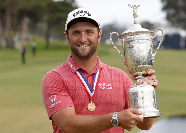 Jon Rahm heeft de U.S. Open gewonnen. Beeld AFP