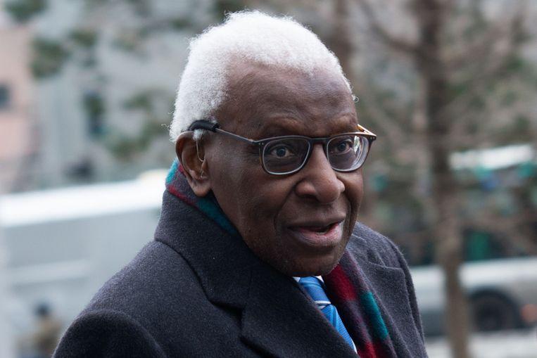 Voormalig IAAF-voorzitter Lamine Diack. Beeld AFP