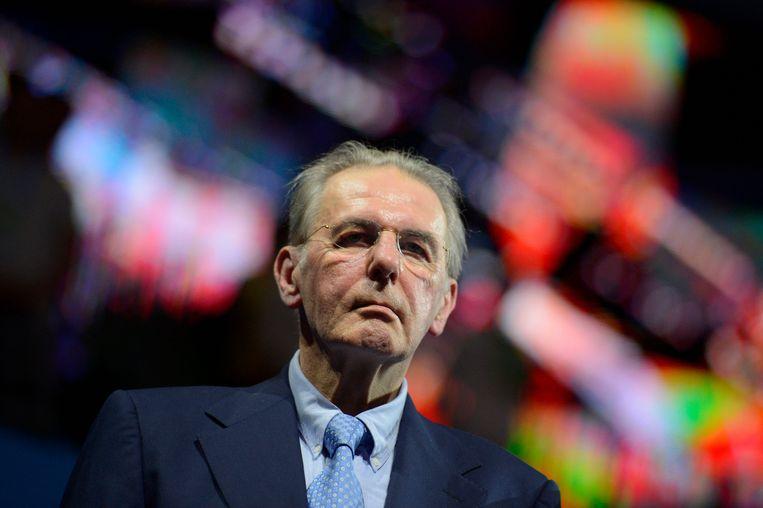 Rogge in 2013. Onder zijn bewind als IOC-voorzitter werd het aantal dopingcontroles op de Olympische Spelen verdubbeld. Wie tegen de lamp liep, werd stevig aangepakt. Beeld AFP