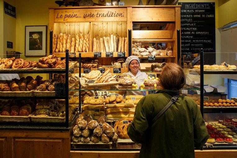 Bakkerij Le Fournil de Sébastien, waar Fransen, net als bij My Little Patisserie, de juiste croissants vinden Beeld Carly Wollaert