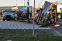 Botsing tussen drie auto's in Waalwijk