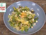 Pappardelle met shiitake en groene asperges