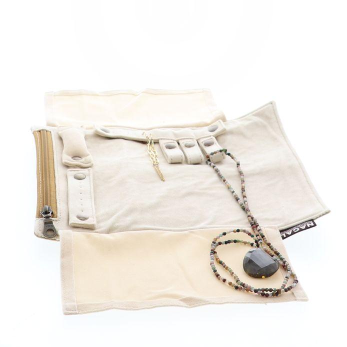 Trousses pour ranger ses bijoux de la marque liégeoise Nagal.