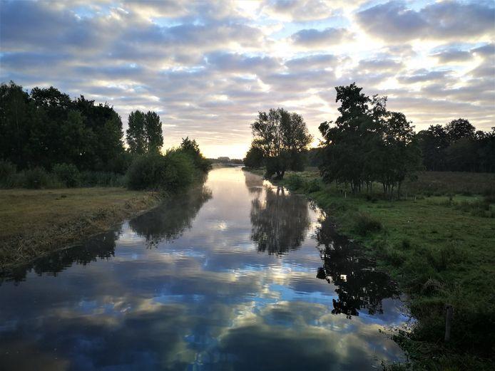 Gijs maakte met zijn telefoon deze winnende foto voor de fotowedstrijd die waterschap De Dommel uitschreef.