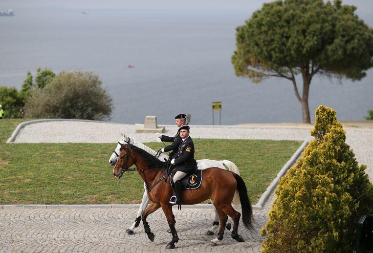 Ruiters tijdens de herdenkingsplechtigheden op het schiereiland Gallipoli.