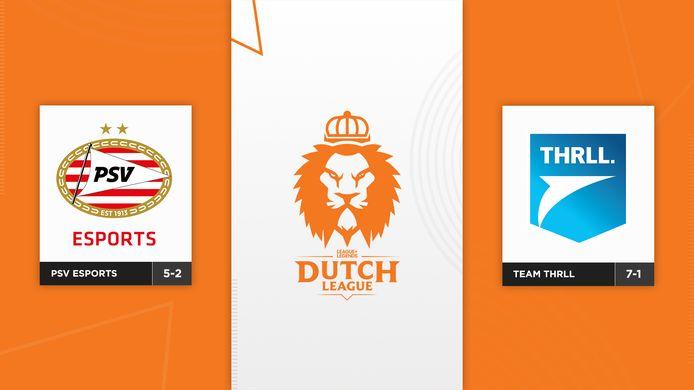 PSV Esports probeert nog steeds de koppositie van Team THRLL af te pakken in de Dutch League. De Eindhovenaren moeten in speelronde zeven dan wel het duel winnen en hopen op een slippertje van THRLL.