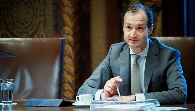 Eric Wiebes dinsdag bij de Financiële Beschouwingen in de Eerste Kamer. Beeld anp