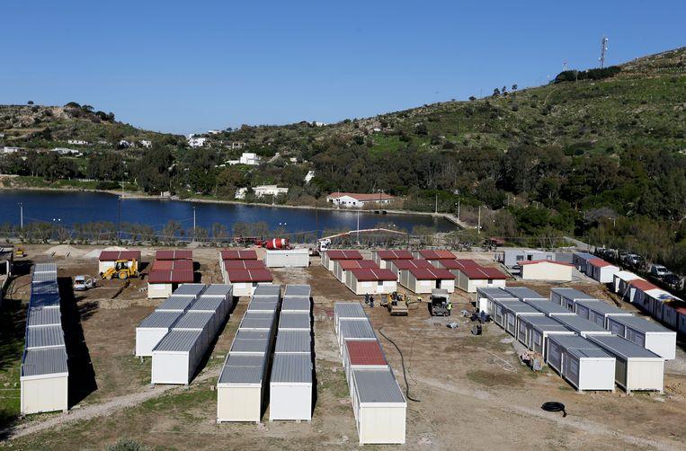 Een vluchtelingenkamp op Leros. Beeld AP