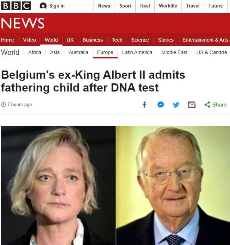 Screenshot website BBC News: