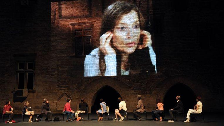 'Cour d'Honneur' op het festival van Avignon. Beeld AFP