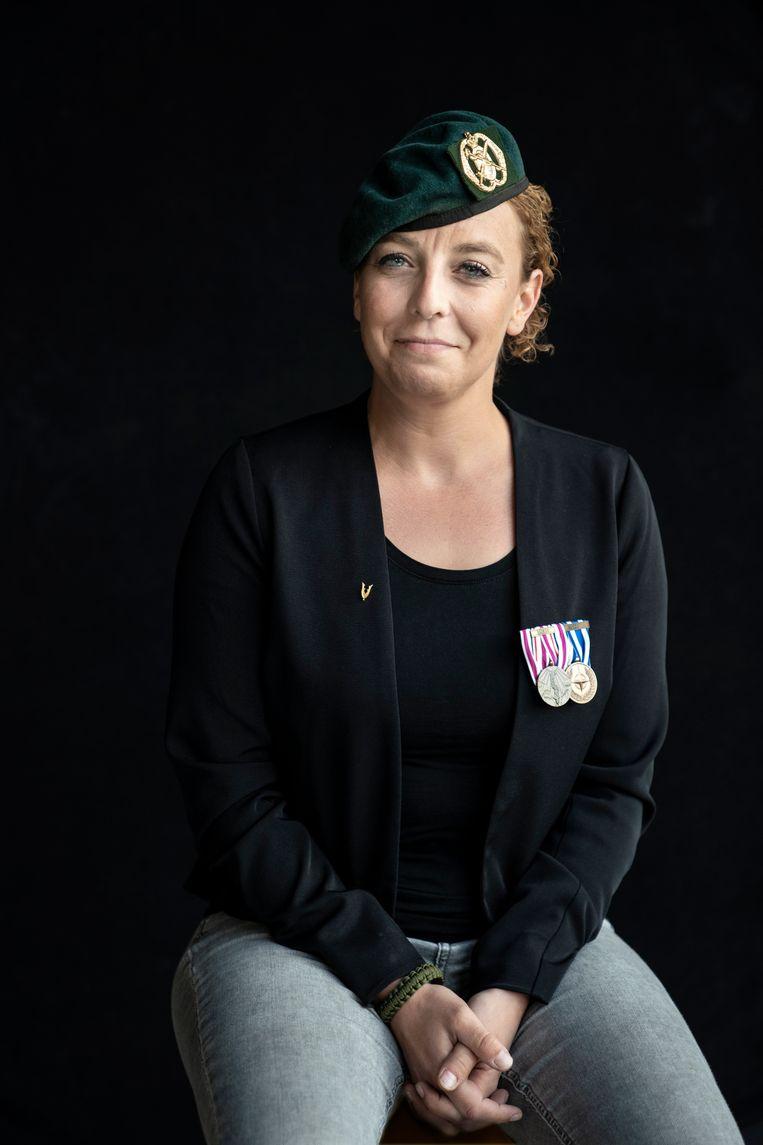 'Als iemand voor me gaat klappen, voelt dat toch vooral ongemakkelijk', zegt Afghanistan-veteraan Ingrid Heij. Beeld Reyer Boxem