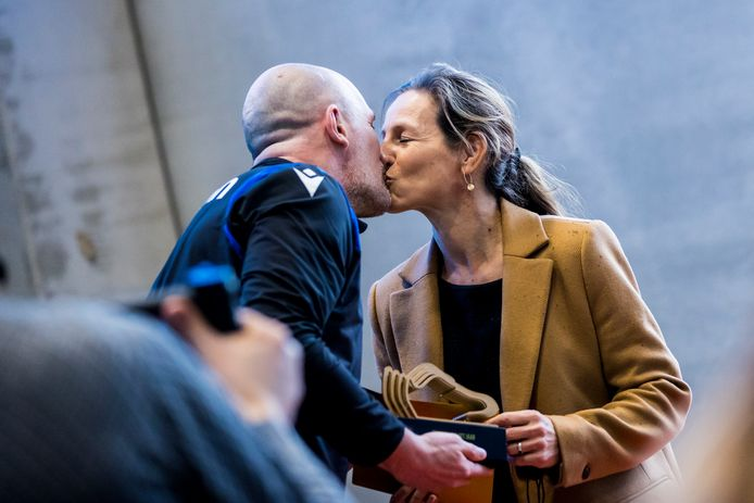 Philippe Clement en zijn verloofde Isabelle.