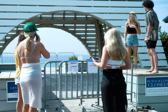 17 maart: andere stranden zoals hier in Seaside (Florida), honderden kilometer verder, waren niet toegankelijk.