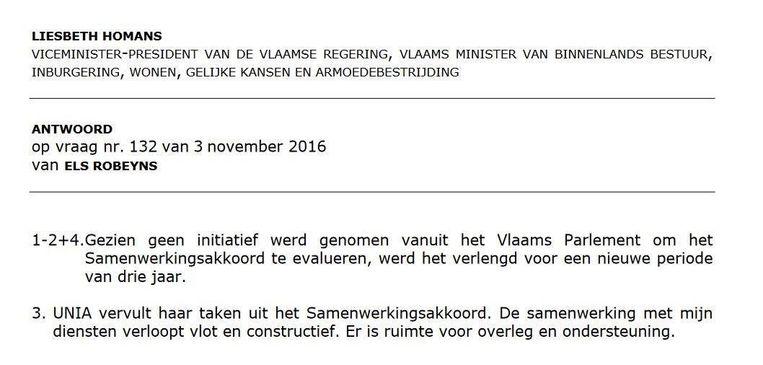 Het antwoord van Liesbeth Homans:
