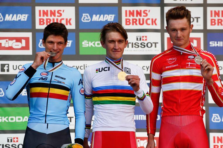 Mikkel Bjerg is wereldkampioen tijdrijden bij de beloften.
