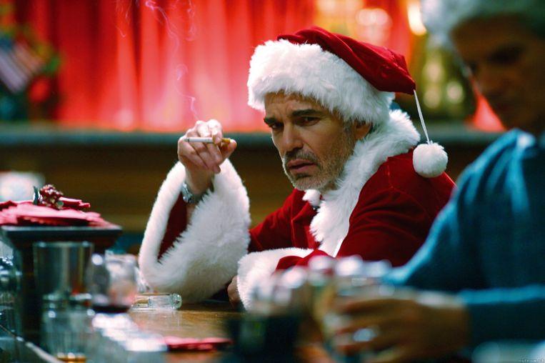 Billy Bob Thornton in Bad Santa. Beeld