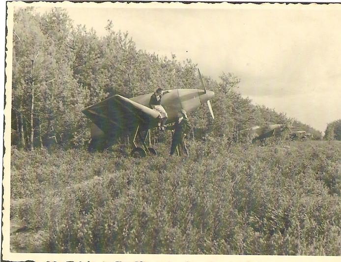 Het schijnvliegveld zoals het werd ingericht door de Duitsers.