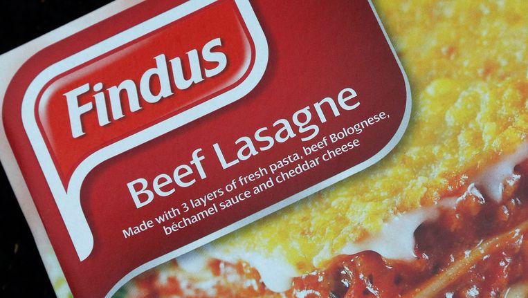 Lasagne van Findus waar volgens de verpakking rundvlees in moet zitten. Uit onderzoek is gebleken dat het bedrijf paardenvlees gebruikt. Beeld REUTERS