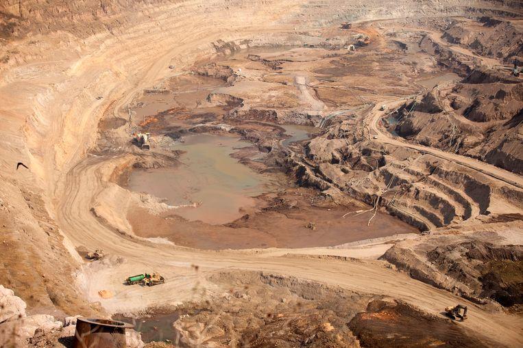 Een goudmijn in de Congolese provincie Katanga. Beeld Bloomberg via Getty Images