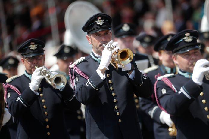 Les musiciens des forces armées belges ont également défilé.