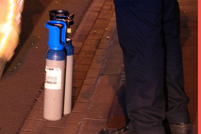 De feestvierders in Beringen maakten gebruik van lachgas