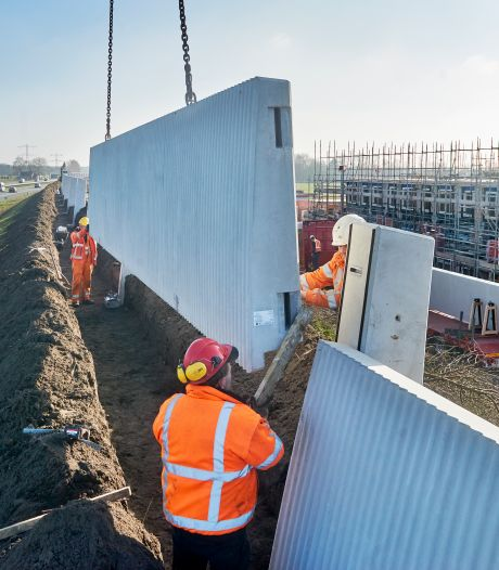 Groeiwijk Nistelrode krijgt geluidsscherm met ruim 700 ton beton