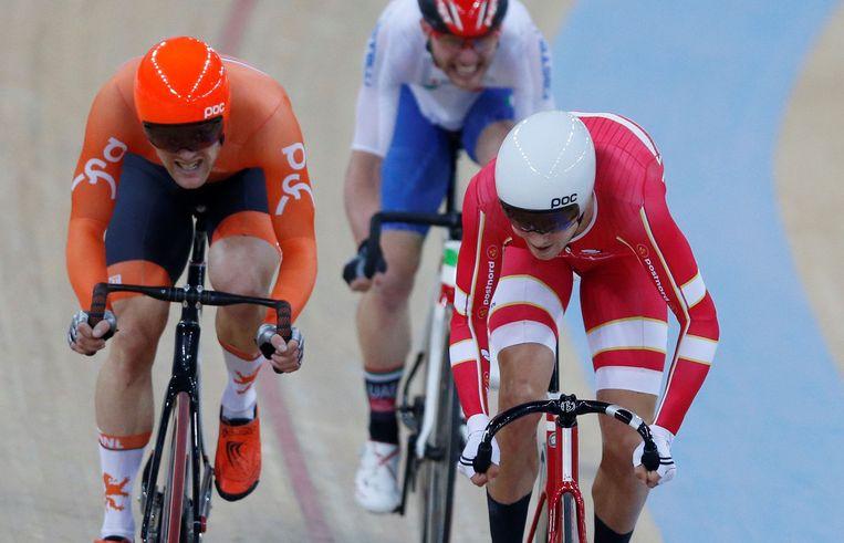 Casper Pedersen vorig jaar op het WK baanwielrennen.