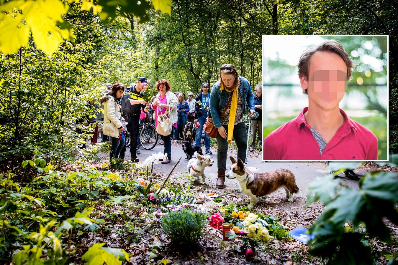 Hondenbezitters liepen afgelopen mei mee met een stille tocht ter nagedachtenis aan de vrouw die in Den Haag werd gedood tijdens het uitlaten van haar twee honden