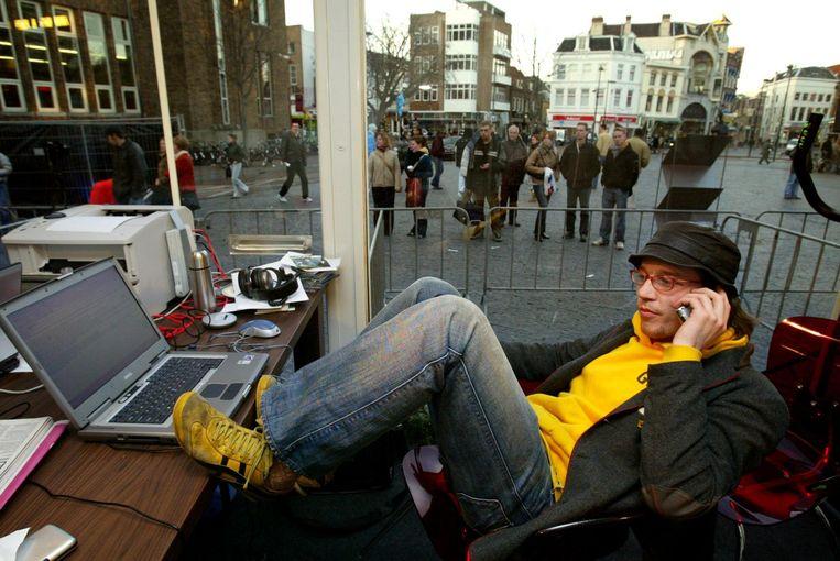 In het Glazen Huis op het Neude in Utrecht. Beeld anp