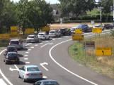 Enorme verkeersdrukte rondom Decibel Outdoor, weg weer vrij