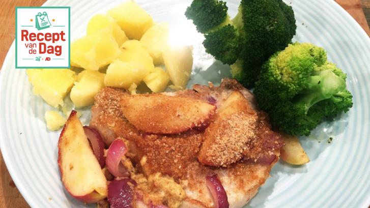 Recept van de dag: Karbonades met appel en mosterd